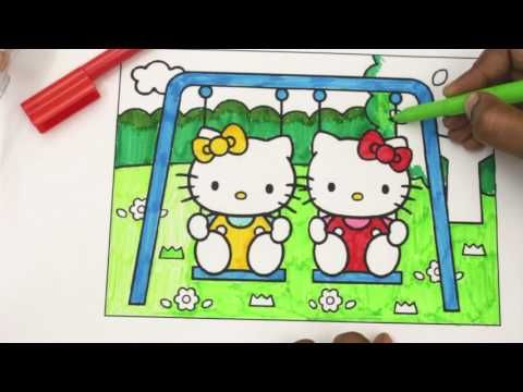 Coloring Hello Kitty Mimmy Family Book Page Colored Pencil Cute Pages For Kids