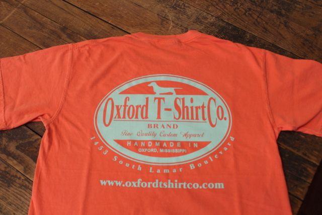 Oxford T Shirt Co Logo Comfort Color T Shirt Bright Salmon 16 00