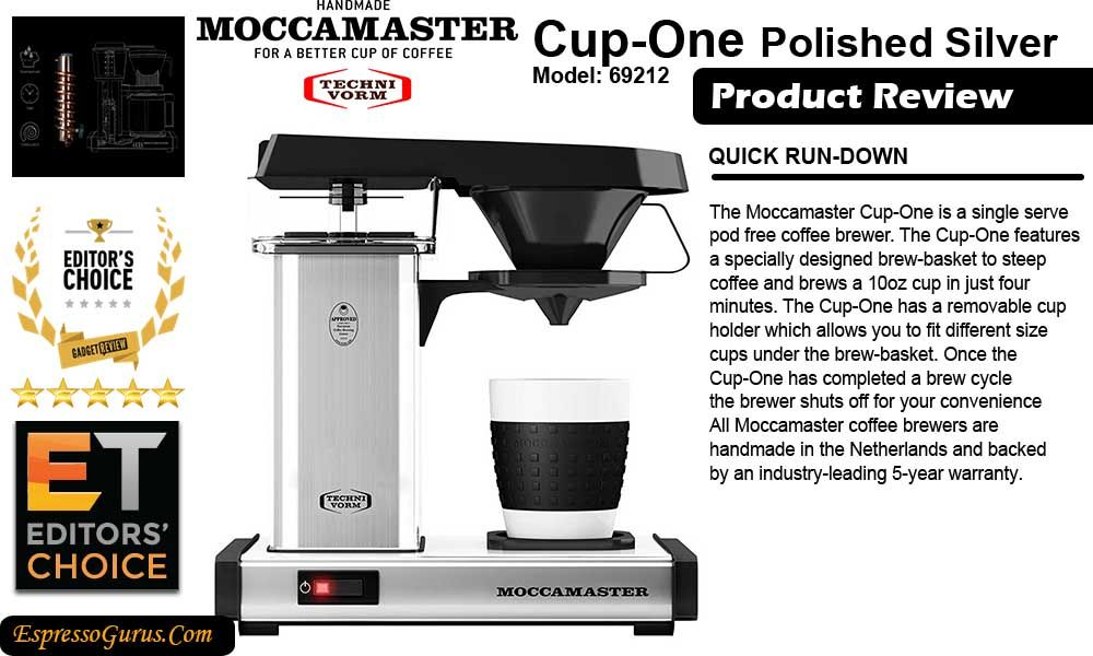 Technivorm Moccamaster Cup One Review Technivorm