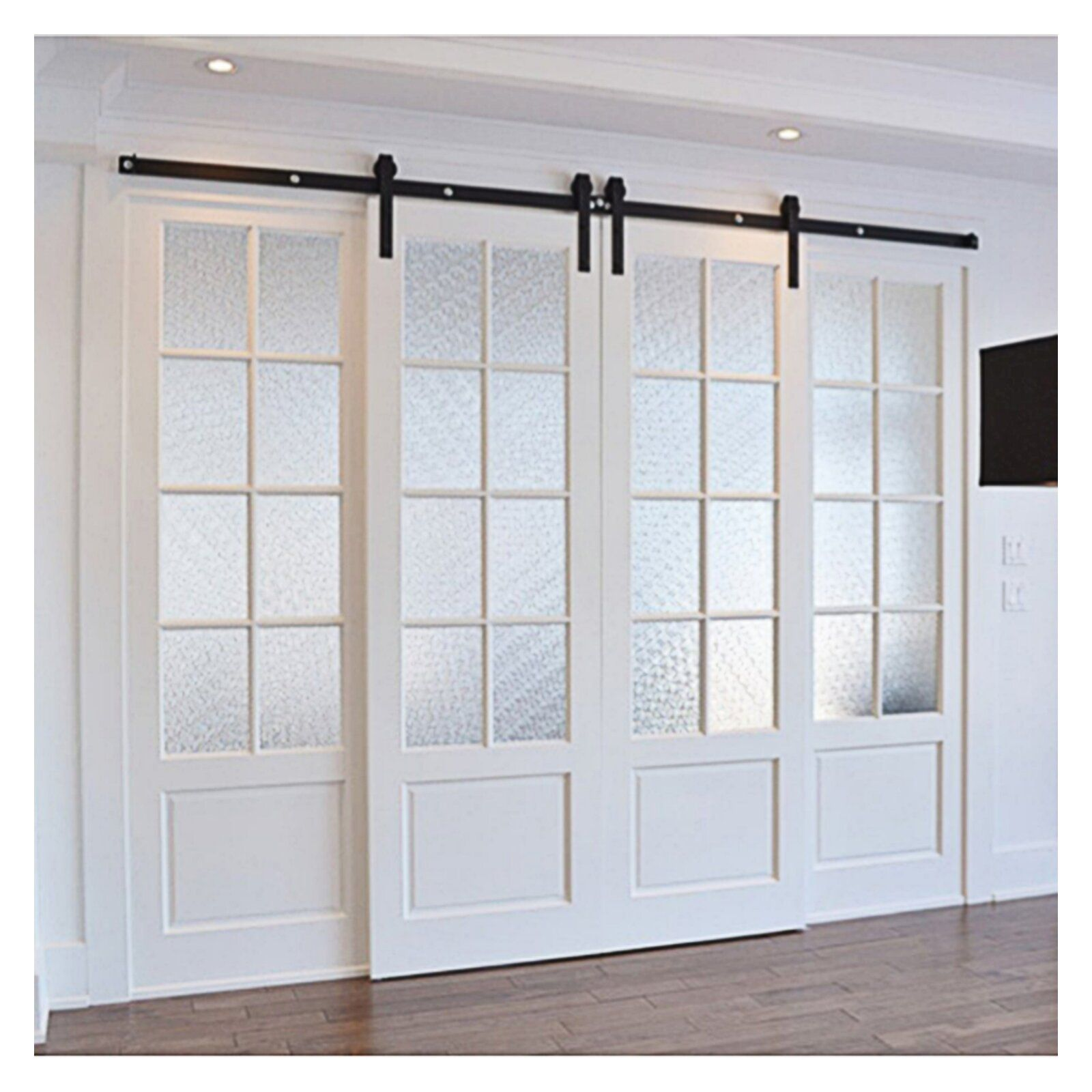 Classic Design Standard Double Track Barn Door Hardware Kit French Doors Interior Sliding Doors Interior Sliding Barn Door Hardware
