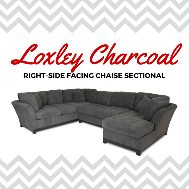 Corinthian Loxley Charcoal Right Side Facing Chaise Sectional At Great American Home Store Sectional Chaise Grey Sectional