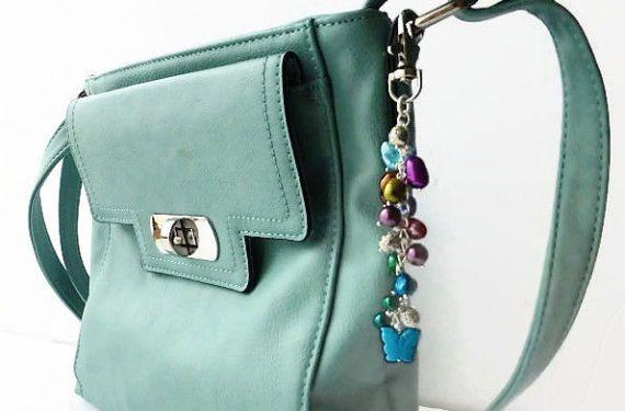 Erfly Purse Charms Handbag Pearl Detachable Key