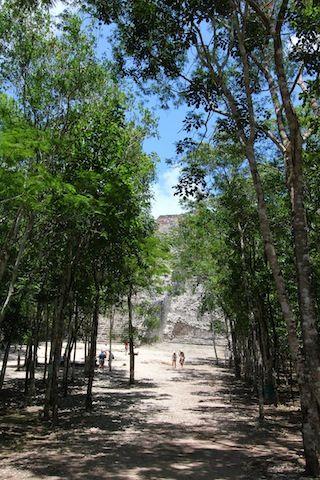 Saludos desde la maravillosa piramide mas alta de lo Yucatan..Coba