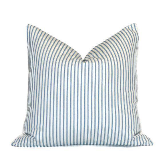"""26X26 Pillow Insert Extraordinary Navy Blue Ticking Stripe Floor Pillow$23Blue Striped26"""" X 26 Design Decoration"""