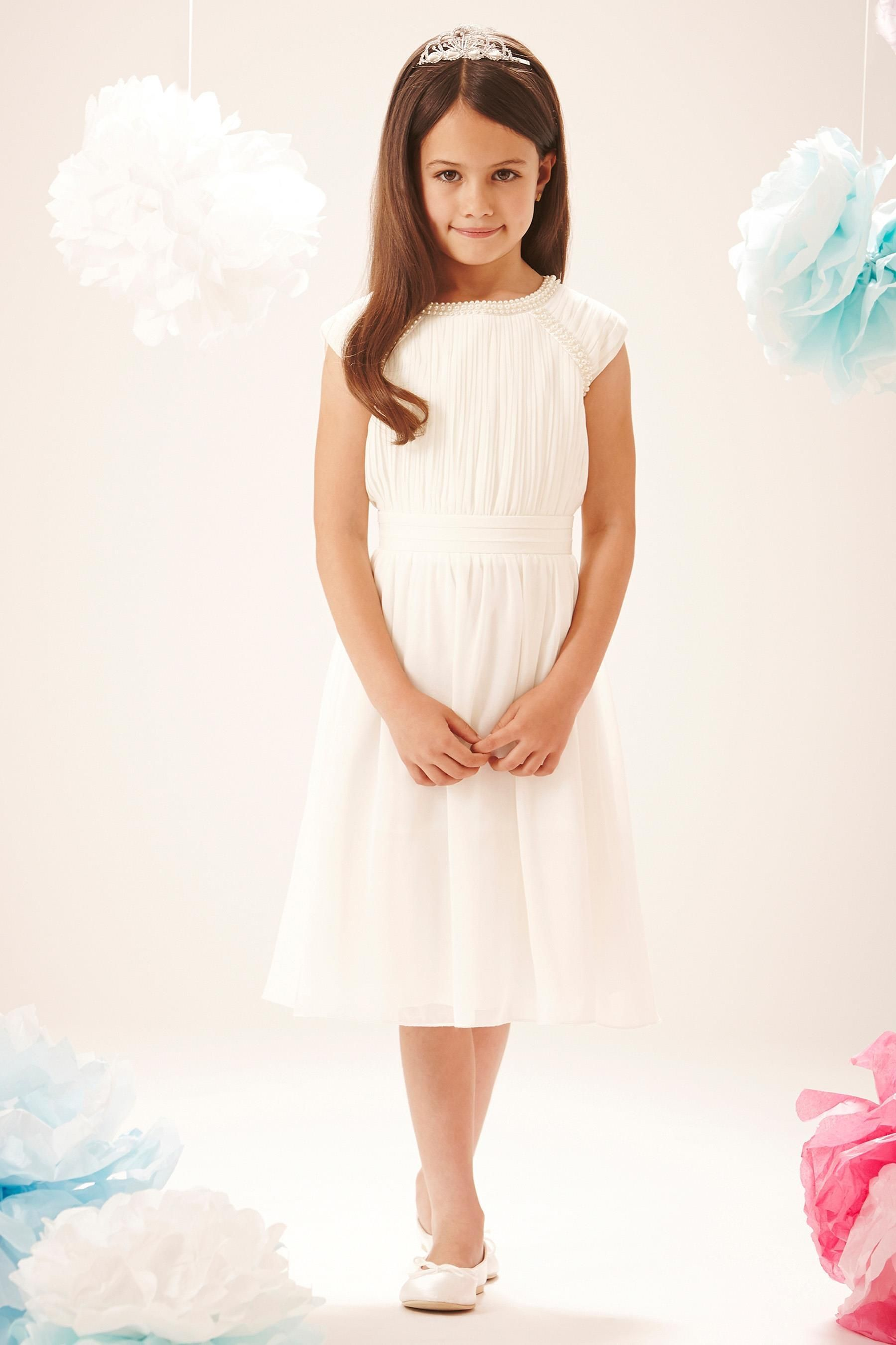 Buy little miss dress pearl embellished party dress 5