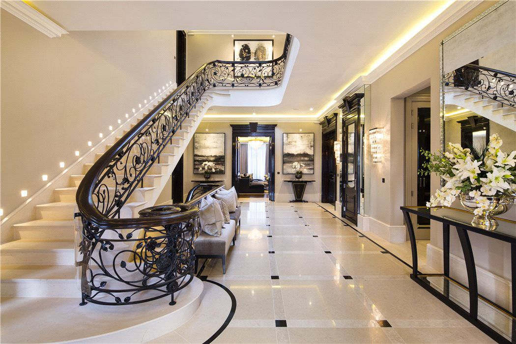 Elegant Contemporary English Mansion In Hampstead   Interior designed by  Patsy Blunt Interiors   Grand Foyer   The interior is the embodiment of so. Elegant Contemporary English Mansion In Hampstead   Interior