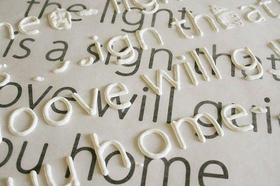 letters groot uitprinten en schrijven met puffy paint , laten