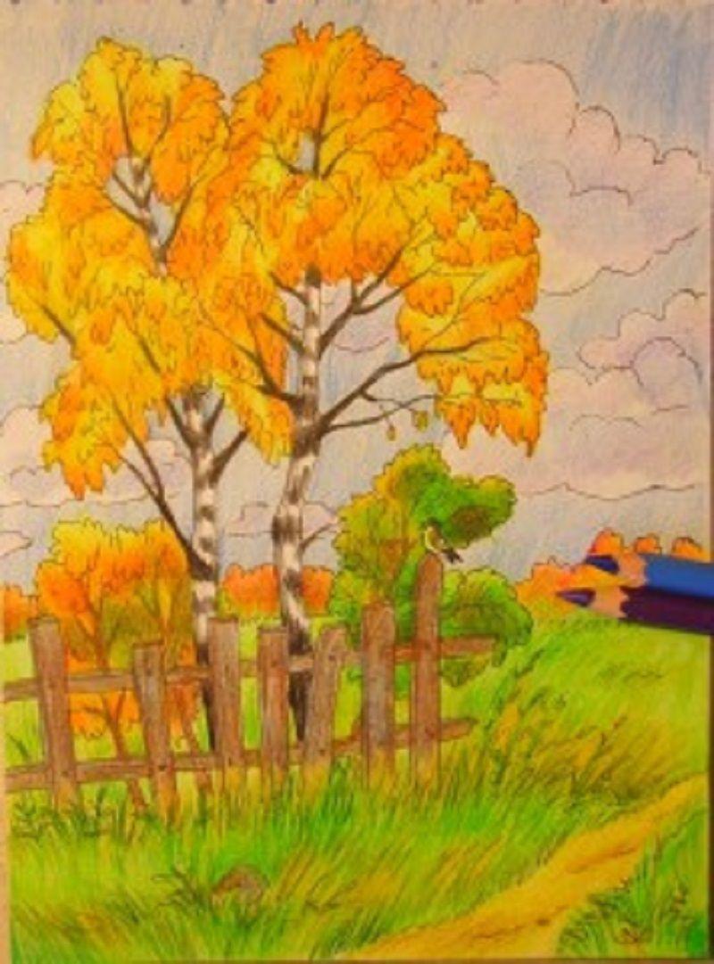 Рисунки природы красками поэтапно для начинающих. Как ...
