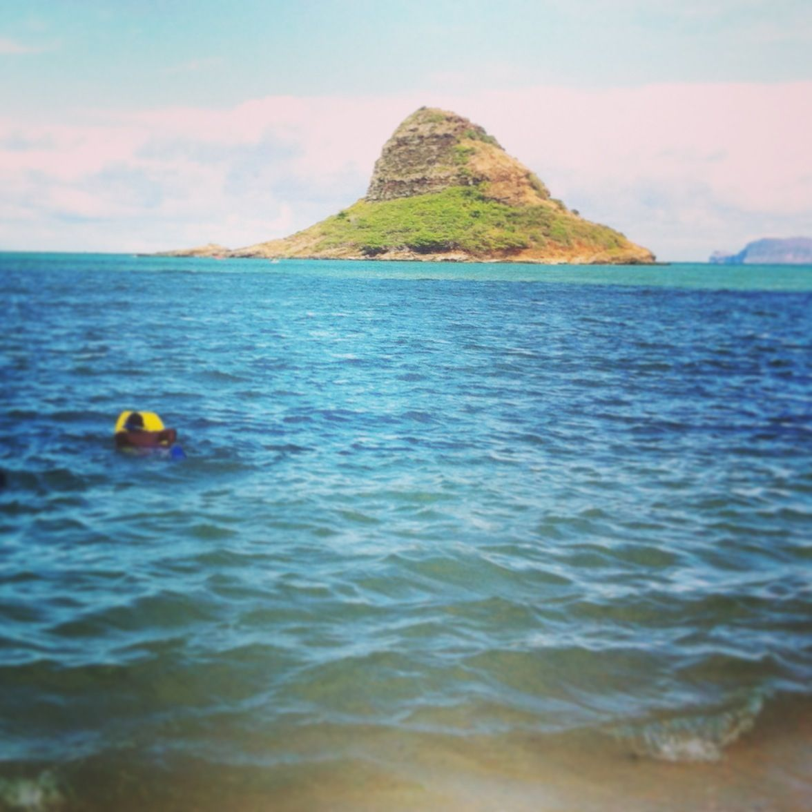 Chinamans Hat Hawaii: View Of Chinaman's Hat From Kualoa Campground On Oahu. You