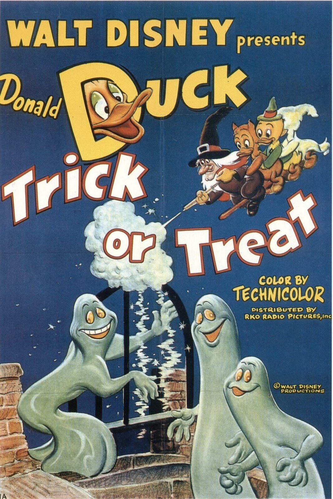 Trick Or Treat! Disney movie posters, Vintage disney