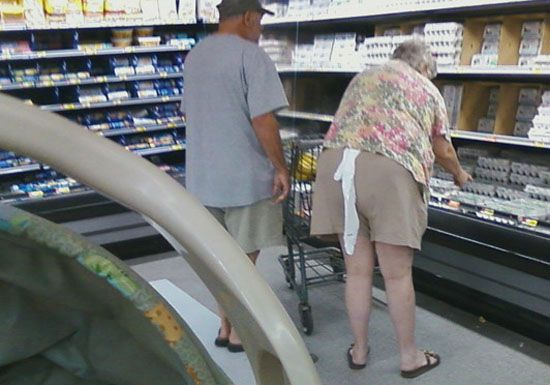 People of Walmart  I wonder where she's been...and hubby didn't notice?
