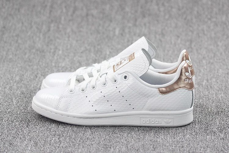 best website 0367e 24590 Womens Adidas Stan Smith Copper White Kettle Snakeskin Metallic Rose Gold  5-11 adidas Athletic