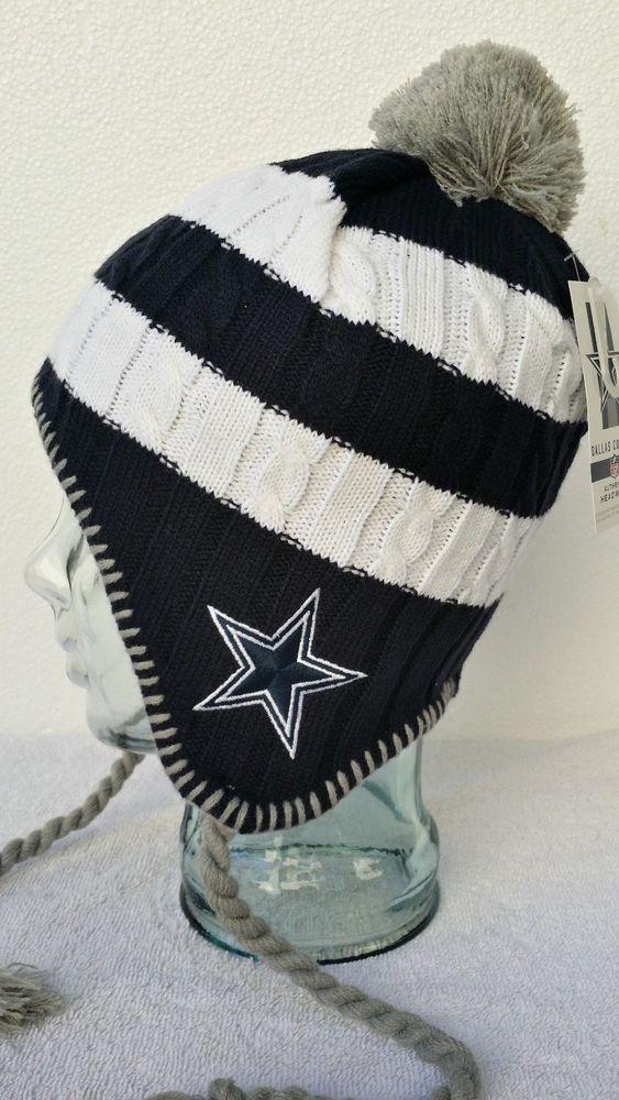 48bd279441153 Dallas Cowboys NFL Women Peruvian Cuffed Knit Hat Winter Cap With Pom Pom  NWT  NFL  DallasCowboys