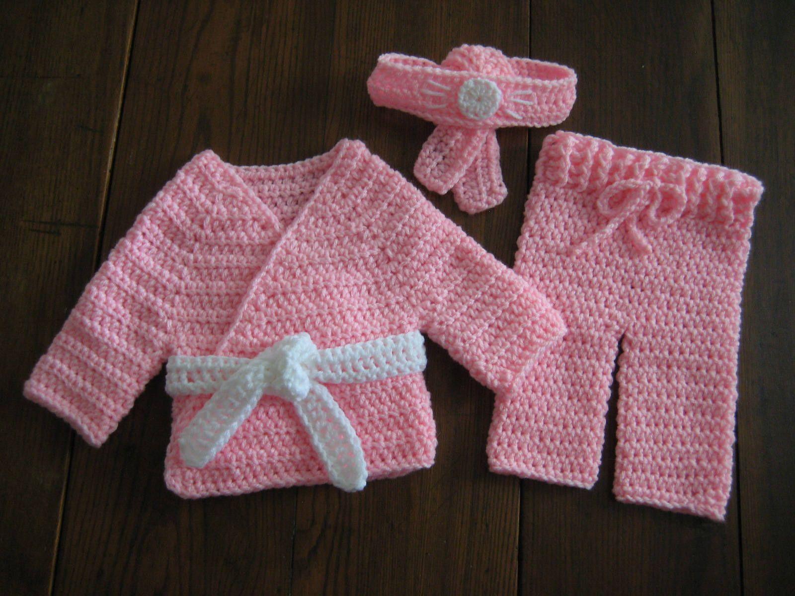 Baby Martial Arts Karate Outfit; Pink Baby Karate Uniform; Newborn ...