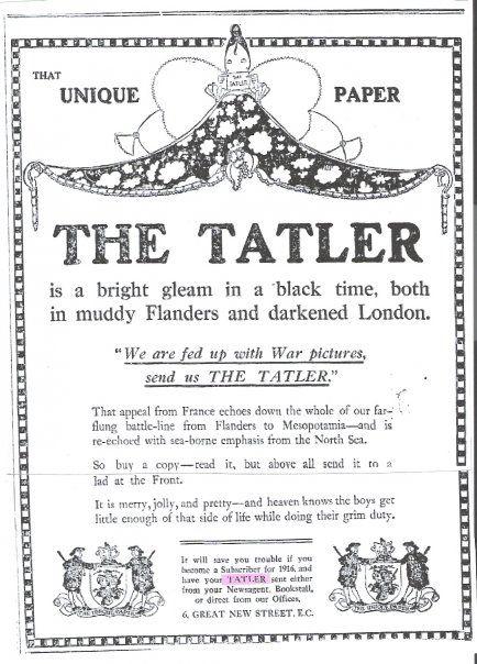The Tatler, long providing cheer