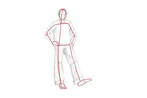 How To Draw A Person Standing Stick Figure Human Drawing Drawings Person