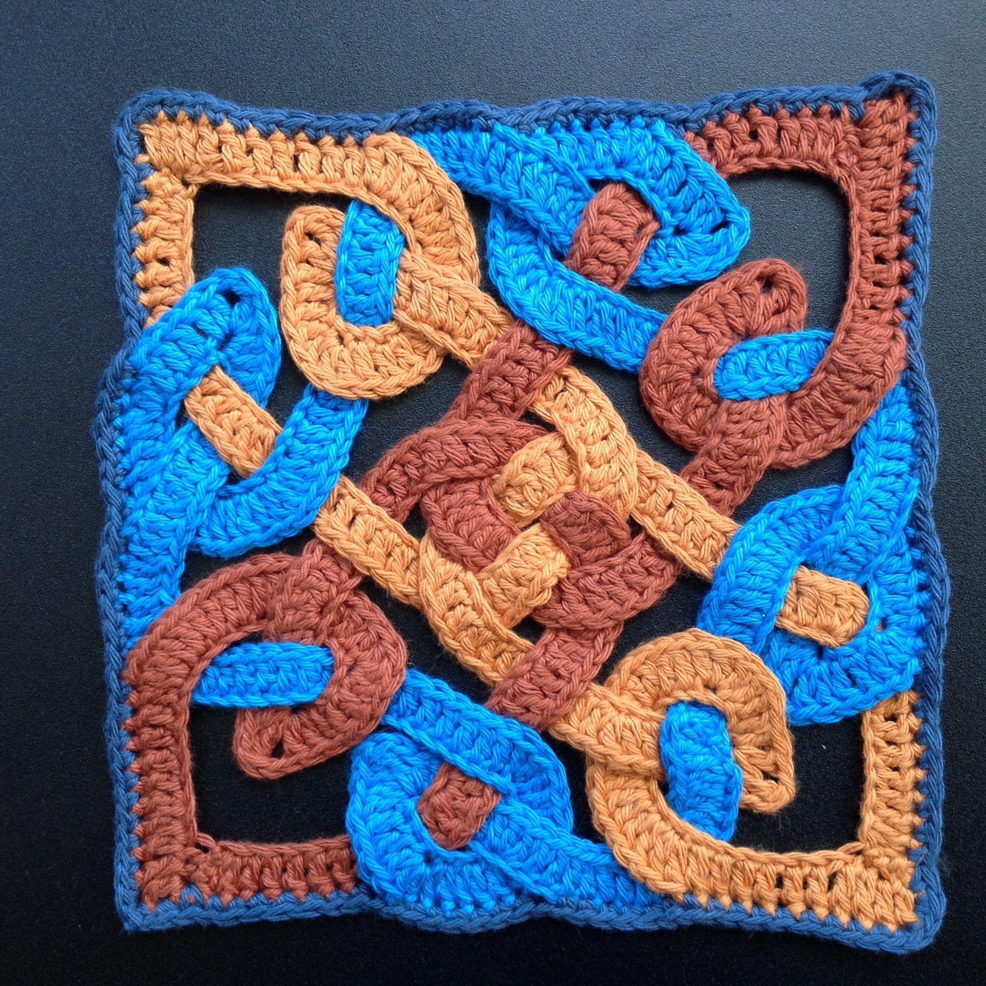 Suvis Crochet Celtic Knot Motif Free Pattern Crochet Crochet