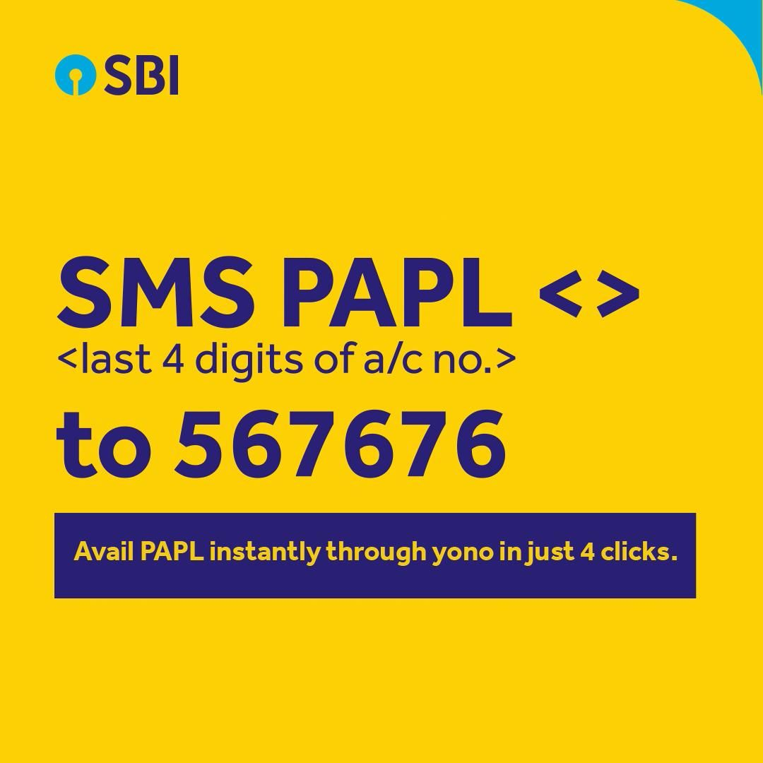 Avail Papl Instantly Through Yono In Just 4 Clicks Video In 2020 Instant Loans Personal Loans Sms