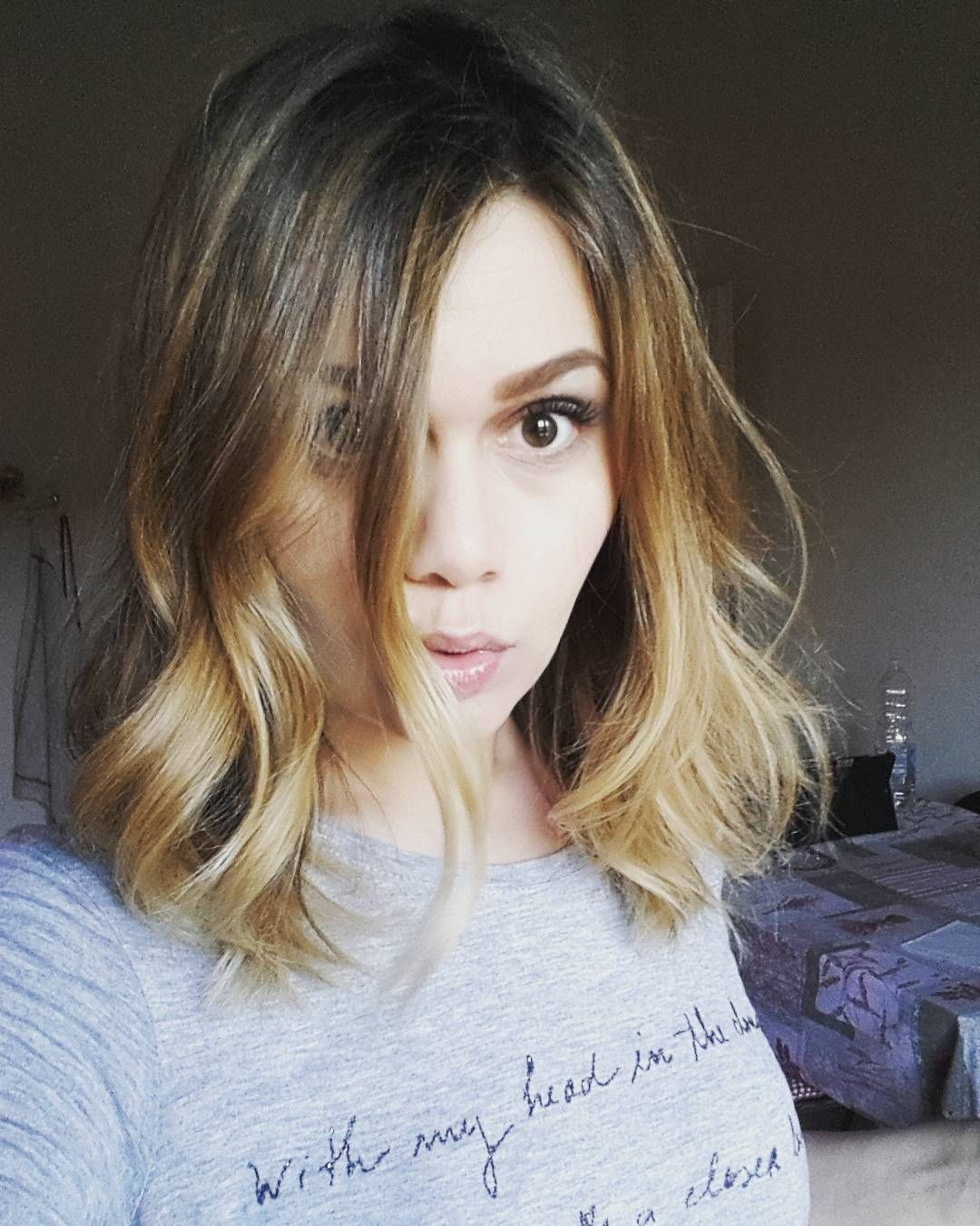 My favourite hobby : changing my hairstyle 😄😄😄 #blondie #balayage ...