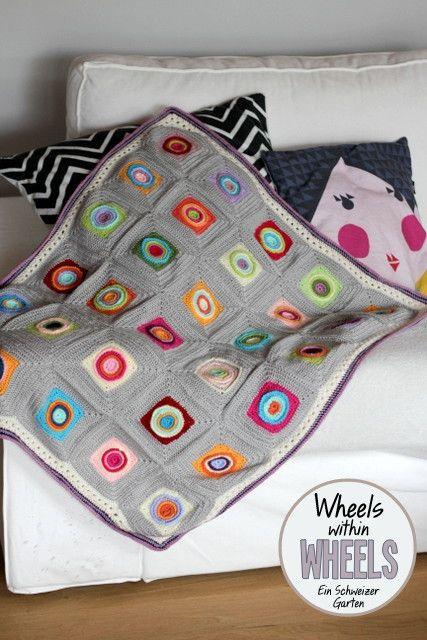 Crochet+blanket+Pattern+Wheels+within+wheels+H%C3%A4keln+Muster+ ...