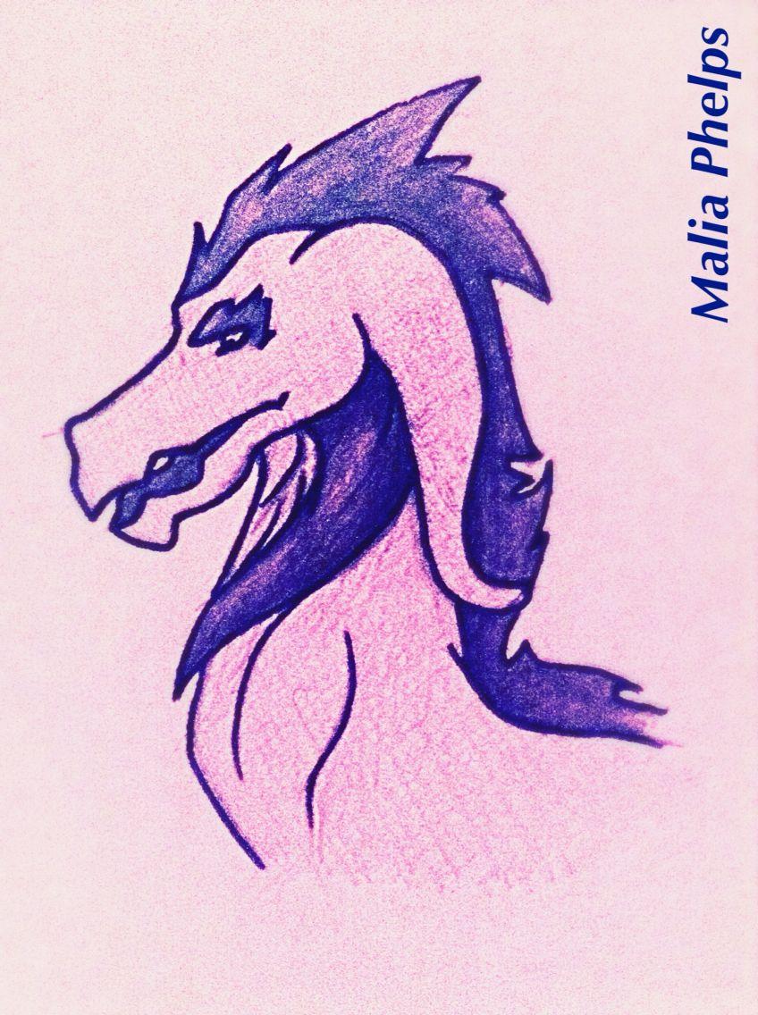 """Purple Creature -Malia Phelps (Come follow """"My Art"""" board!!!)"""