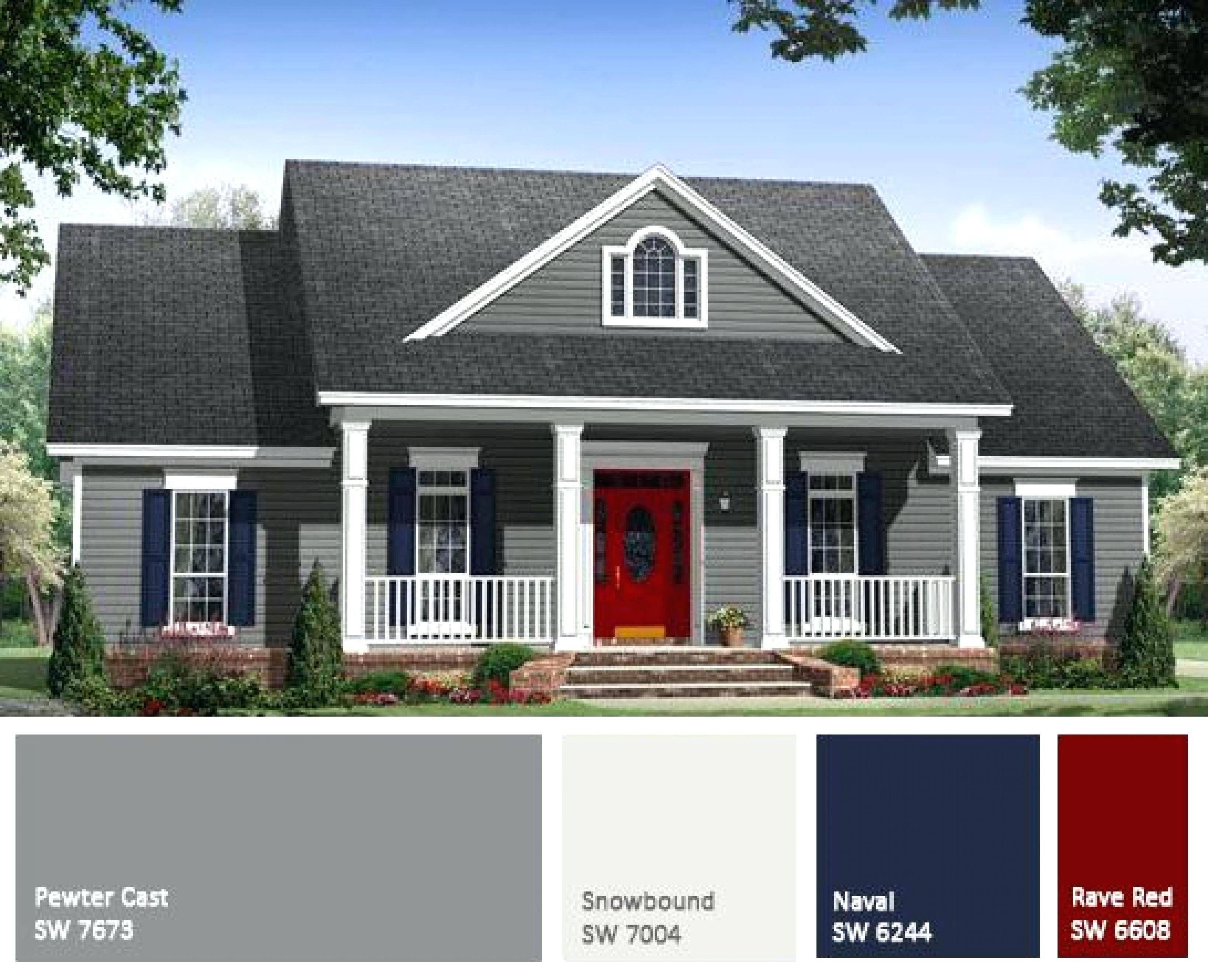 Two Tone Paint Ideas More Image Visite Gray House Exterior Exterior Paint Colors For House House Paint Exterior