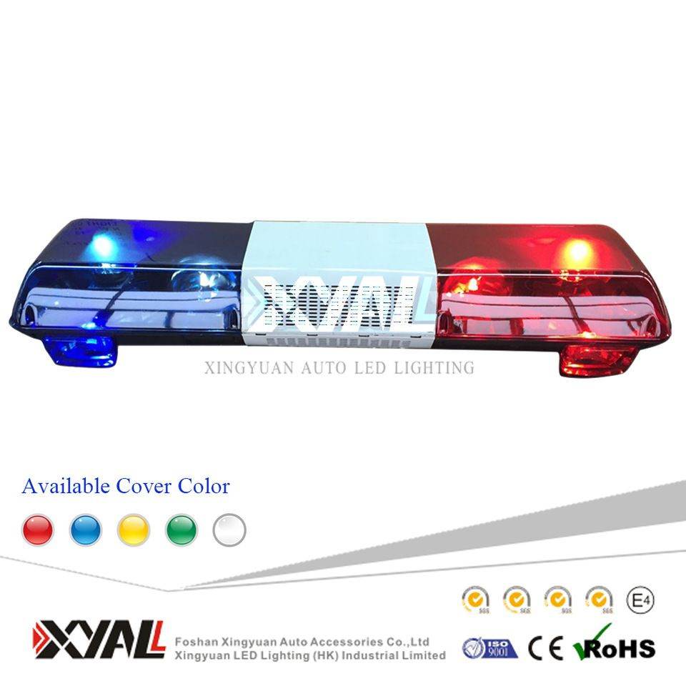 Affordable Rotating 188w Halogen Source Full Size Police Strobe Waring Light Bar Red Blue Amber For Emergency Led Warning Lights Warning Lights Car Led Lights