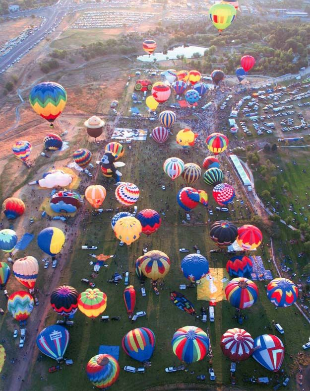 Hot air balloon races in Steamboat Springs, Colorado, and