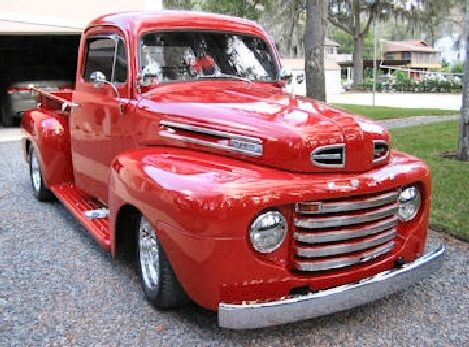 1950 Ford F100 Cherry Red Ford Pickup 1950 Ford Pickup Pickup
