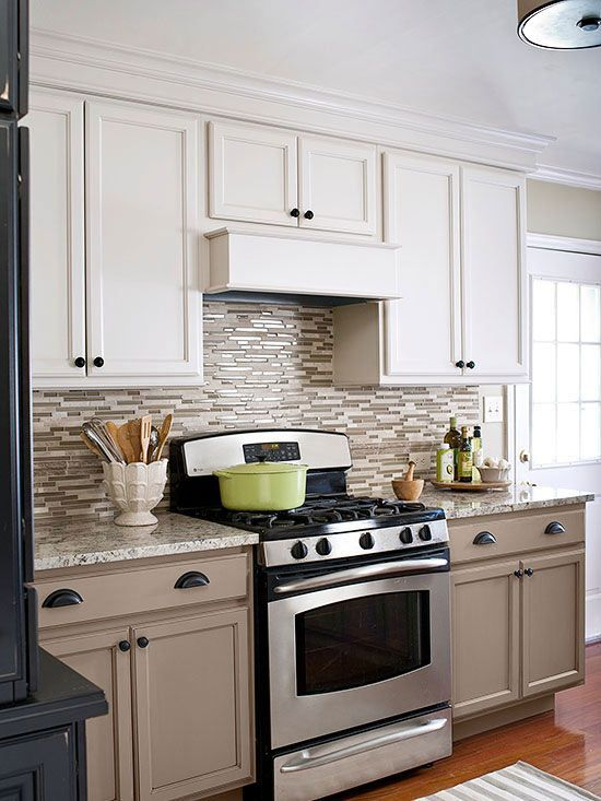 Create Drama With Contrasts Take Painting Cabinets To The Next Level By  Using Contrasting Colors.