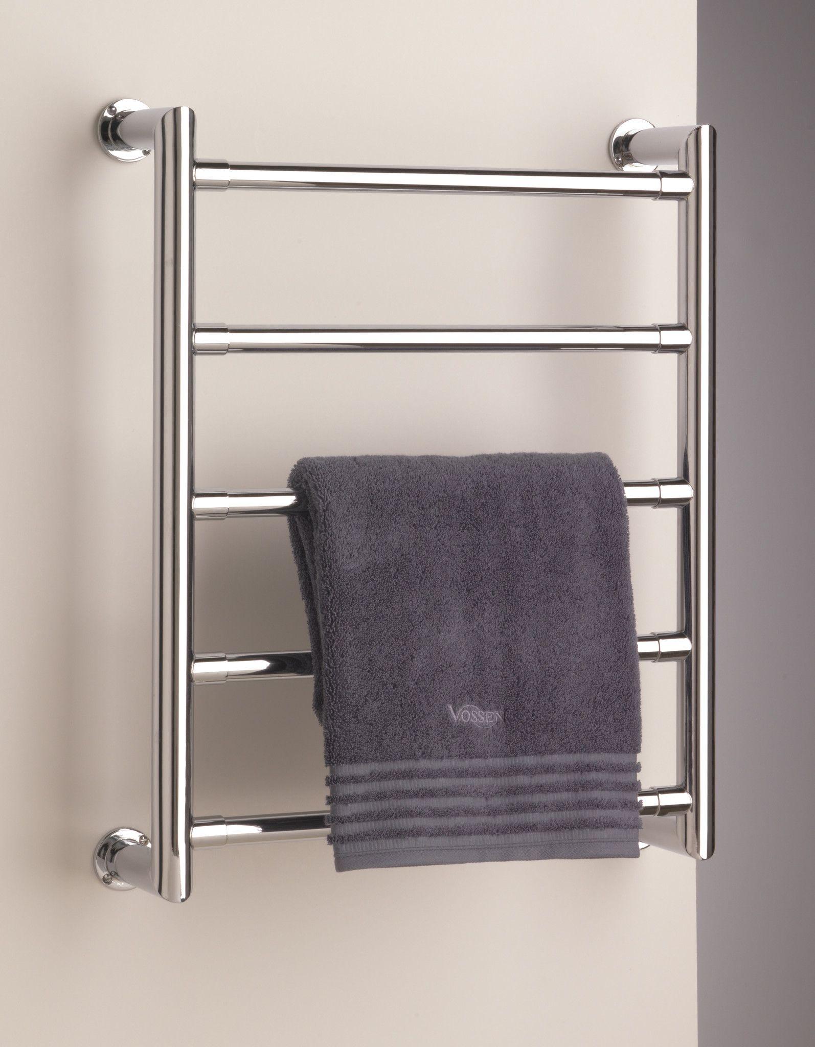 Sterlingham Tura Wall Mount Five Rail Towel Warmer 19 7 W X 24 4 H Heated Towel Rack Towel Rack Towel Rail