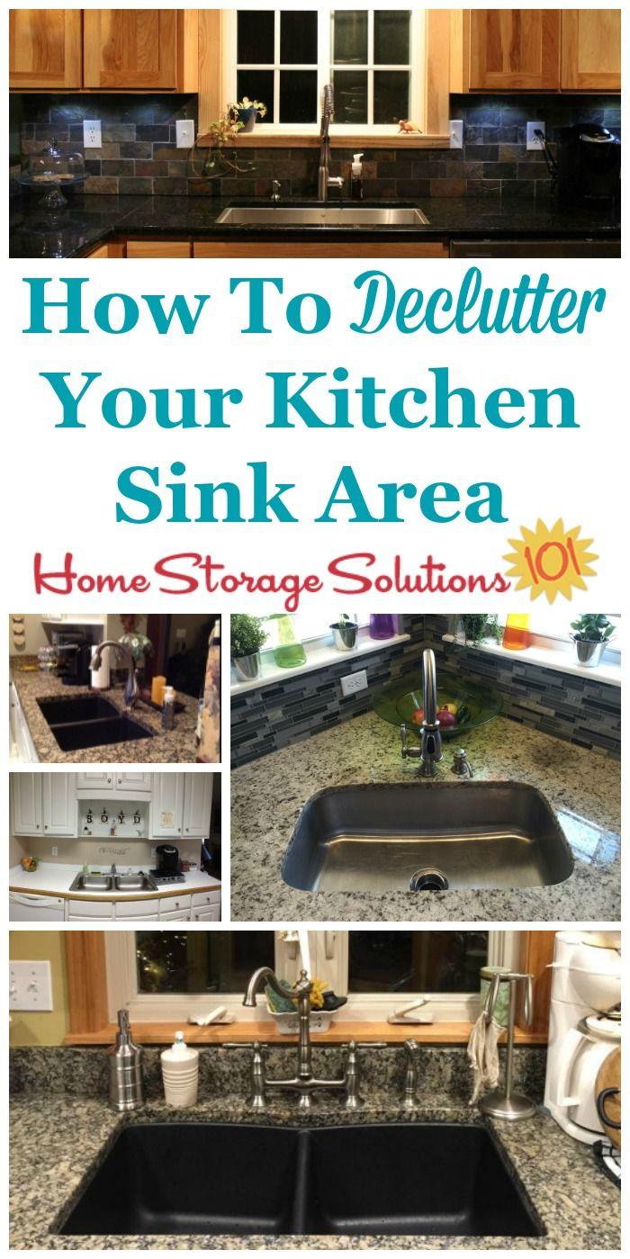 How To Declutter Your Kitchen Sink Area | Pinterest | Decluttering ...