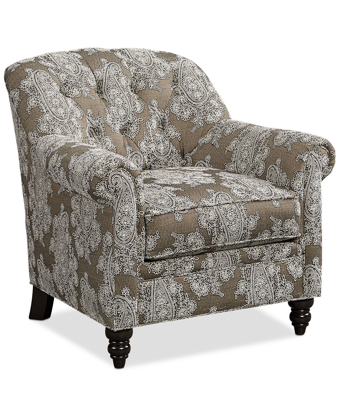Martha Stewart Collection New Club Fabric Roll Arm Accent Chair