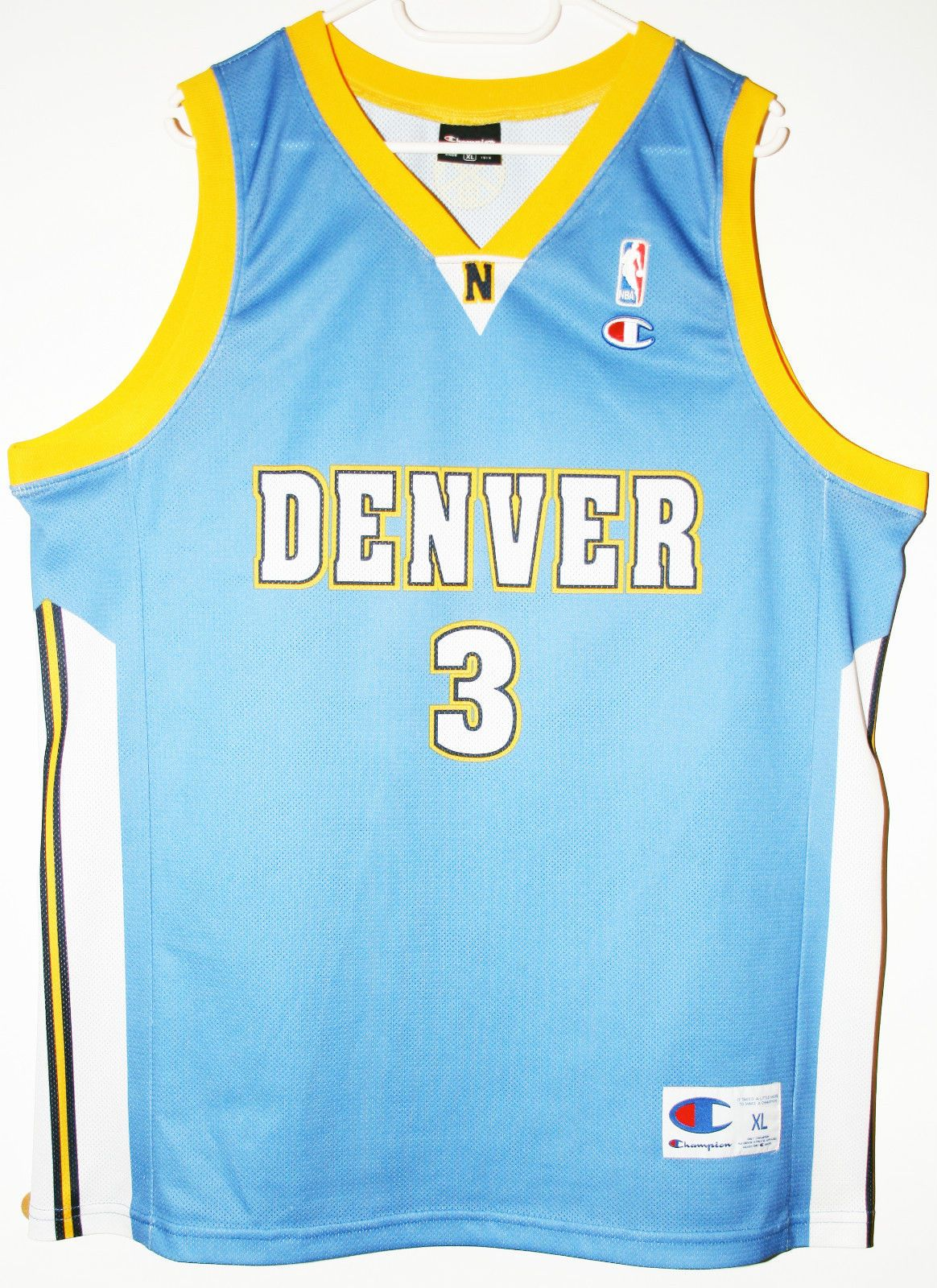 Champion NBA Basketball Denver Nuggets  3 Allen Iverson Trikot   Jersey  Size XL - 47 a3bd5d526f95