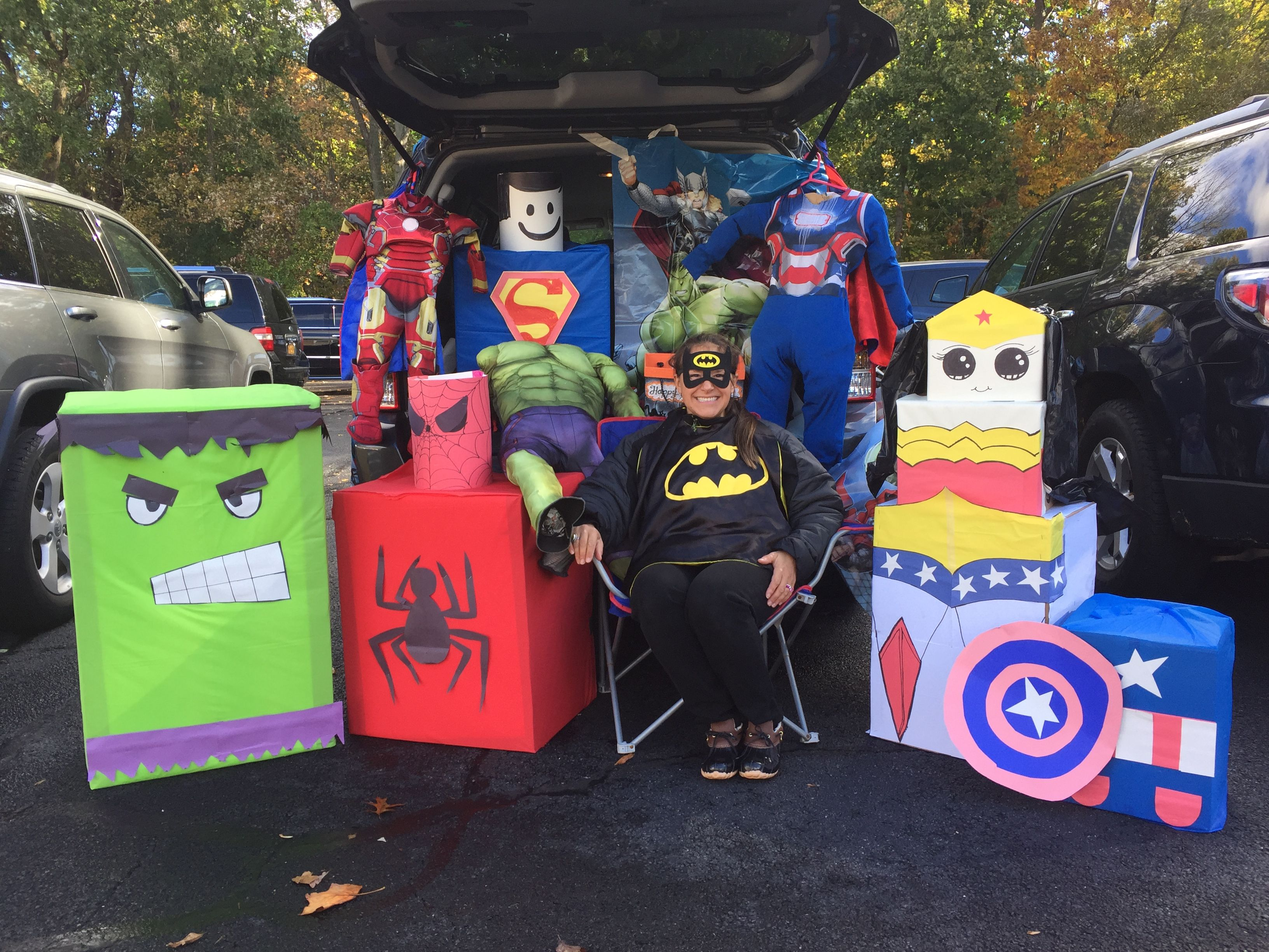 My First Trunk Or Treat Superheroes Galore Halloween Pinterest