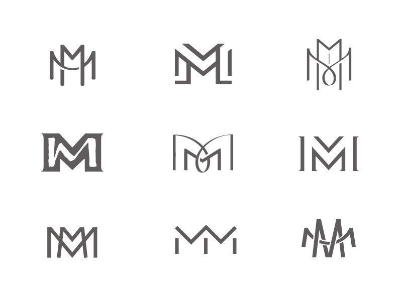 Mm Monograms Monogram Logo Design Text Logo Design Letter Logo Design