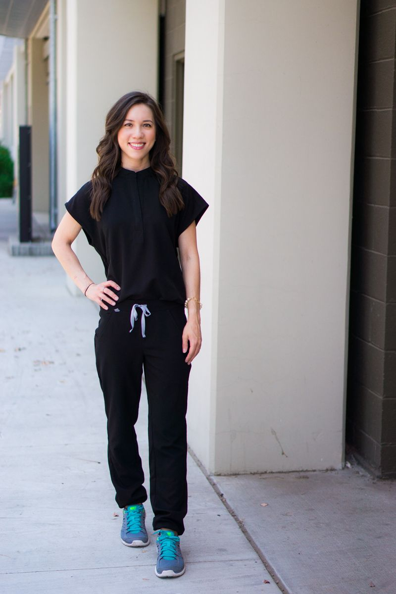 050b235a333 Honest Wear FIGS scrubs review | Zamora Jogger Scrub Pant | Rafaela  Mandarin Collar Scrub Top | FIGS 20% off coupon code | Best jogger pants  for women ...