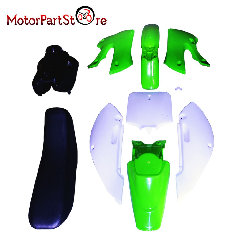 Plastic Body Fender Shell Cover Seat Fuel Tank Kit for