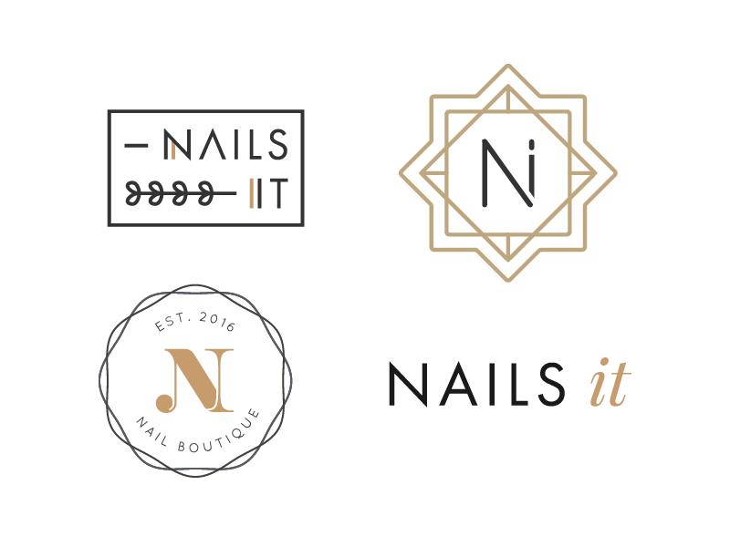 nail salon logo drafts