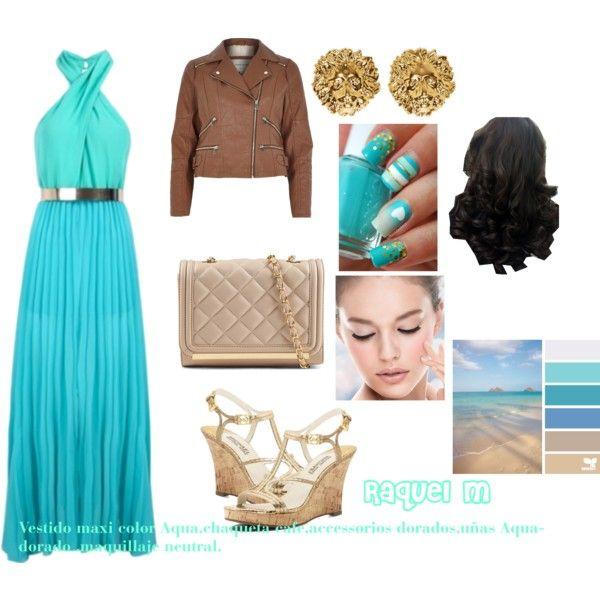 Vestido Maxi Aqua