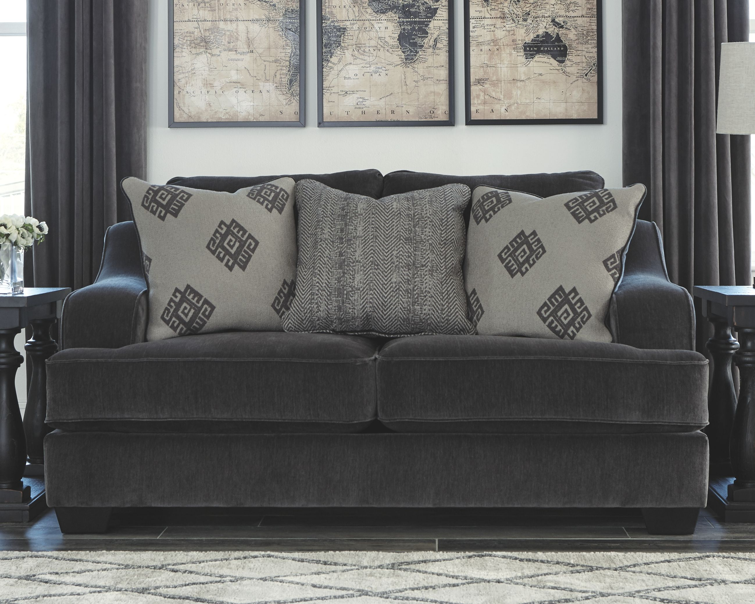 Sofology Quebec Corvara Loveseat Ink Products En 2019 Furniture Grey Couches