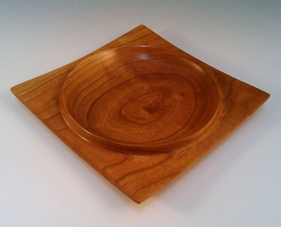 This Square Wood Bowl Is Made Entirely From One Solid Piece Of Black Cherry The Wood Used To Make This Item Was Sust Black Cherry Wood Wood Bowls Bowl Designs