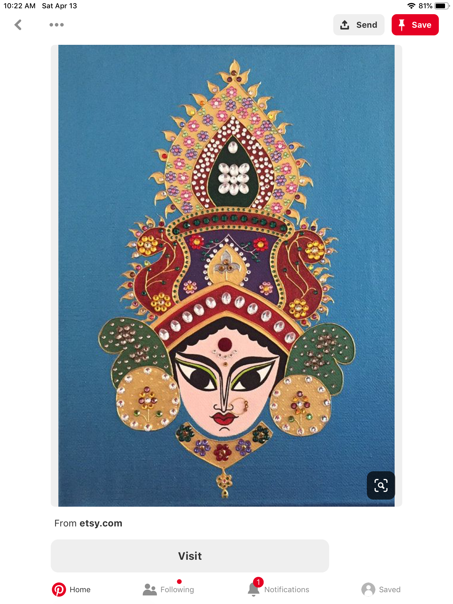 Pin by Pin Interest on Maya devi Durga painting, Indian