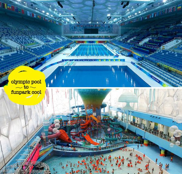The water cube originally designed by australian firm ptw architects and arup an already for Beijing swimming pool olympics