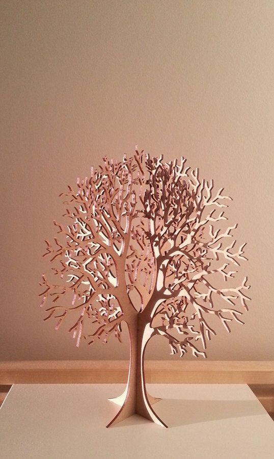 lasercut wooden tabletop tree 1 trucs et astuces bricolage bois d coupe et sapin. Black Bedroom Furniture Sets. Home Design Ideas