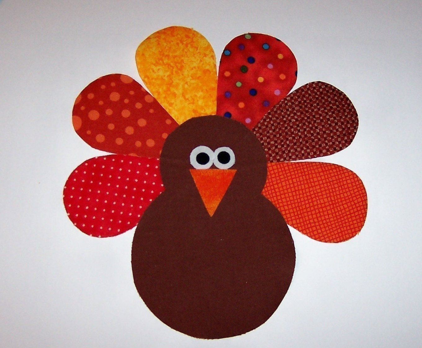 Applique Template Pattern Only Thanksgiving Turkey By