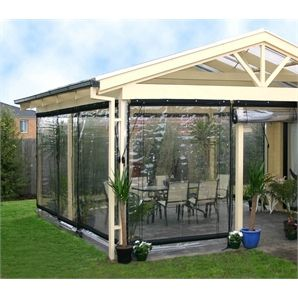 Smart Home Products 240 X 240cm Clear Pvc Outdoor Bistro Blind