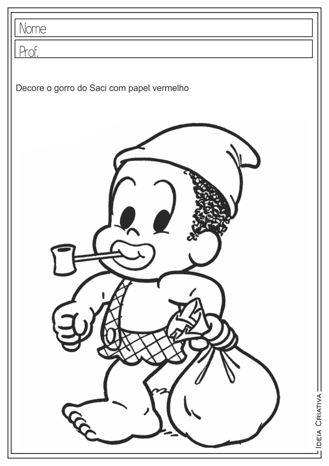 Saci - Folclore | Escola: Infantil e Fund. I | Pinterest ...
