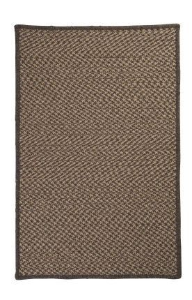 Natural Wool Houndstooth Caramel Braided Rug Rug Size 10