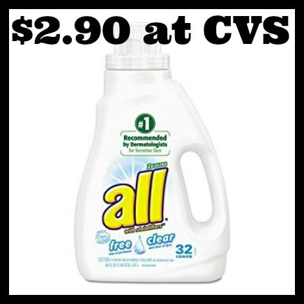 Cvs All Laundry Detergent Only 2 90 With Images Laundry